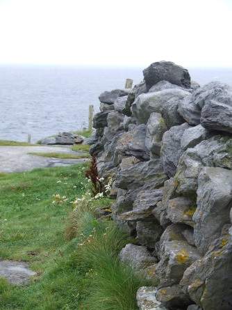 Typical rock wall